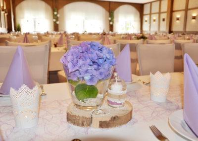Tischdekoration Hochzeitsfeier im Prinsenhof