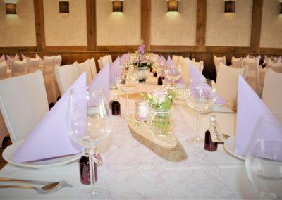Festlich dekorierter Tisch im Prinsenhof